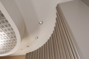curved feature wall