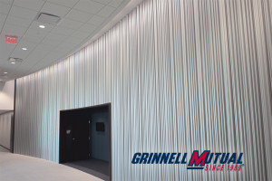 dimensional metal feature wall