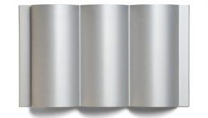 ribbed silver dimensional metal panel