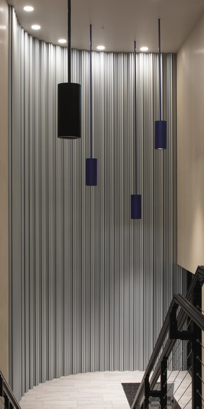 decorative metal wall
